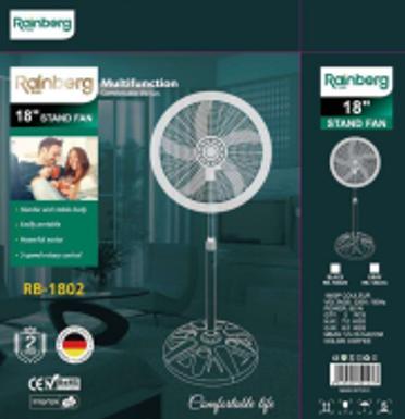 Вентилятор Rainberg 18INCH STAND FAN Voltage:220V (Цена за ящик, 2 шт)