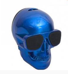 Портативная Bluetooth колонка Череп Skull mini Blue, фото 2