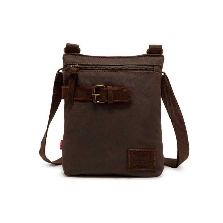 Повсякденна вертикальна чоловіча брезентова сумка через плече Augur кольору хакі