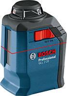 Нивелир лазерный Bosch Professional GLL 2-20 + BM3 + кейс, 20м, ± 0,4 мм/м, IP 54