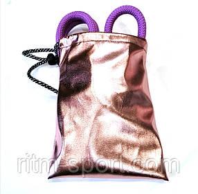 Чехол для скакалки гимнастической (розовый металлик)