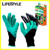 Садовые перчатки GARDEN CLOVE / Перчатки с когтями