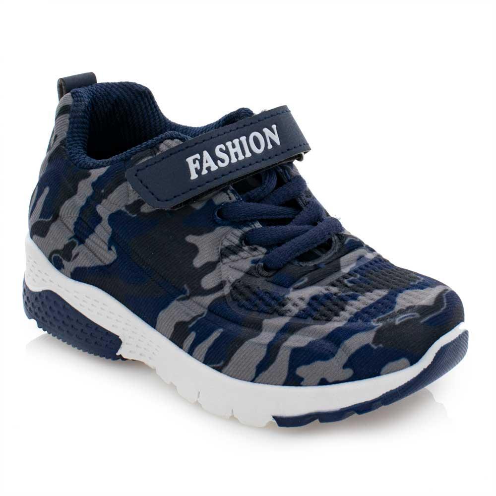 Кроссовки для мальчиков Леопард 28  синие FB221-2