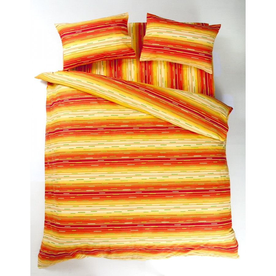 Постельное белье Lotus Ranforce - Metropolis оранжевый семейное