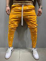 Мужские спортивные штаны с черепами (желтые) - Турция 5195