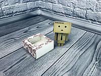 *50 шт* / Коробка для пряников / 80х80х35 мм / печать-Сердце Красное / окно-обычн / лк, фото 1