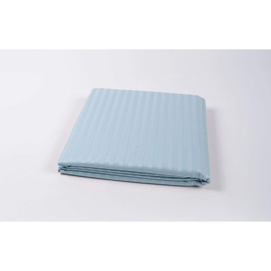 Простынь Lotus Отель - Сатин Страйп 1*1 голубой Турция 180*240