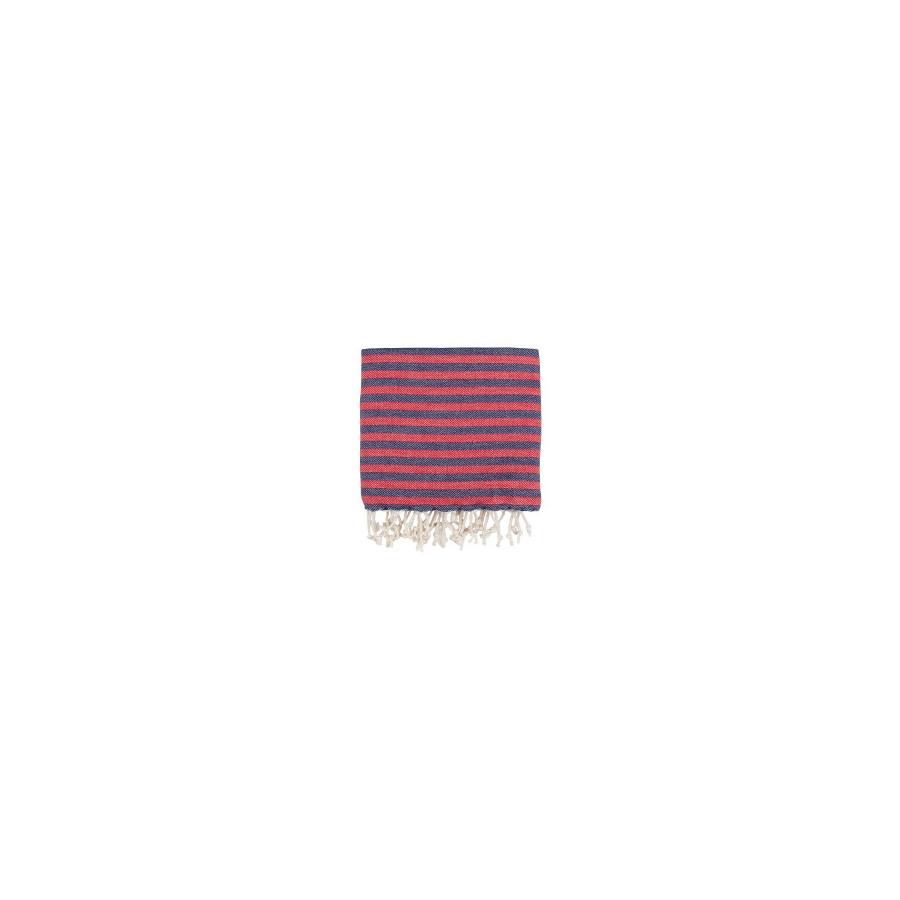 Рушник Barine Pestemal - Herringbone 100*180 Navy-red