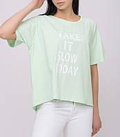 Женская футболка в нежных цветах