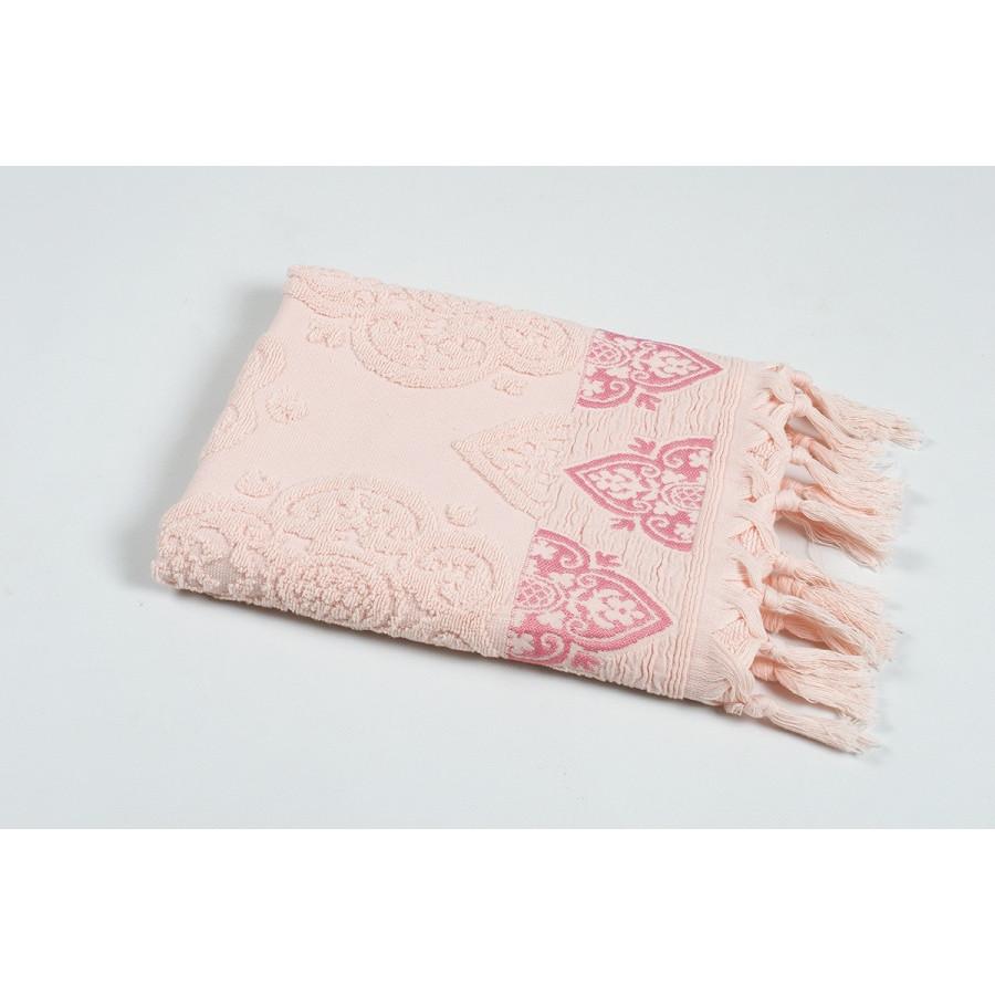 Рушник Oliva Home Jacquard - Damask pembe рожевий 50*90
