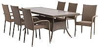 Набор садовой мебели стол 96х200 см + кресла - ротанг