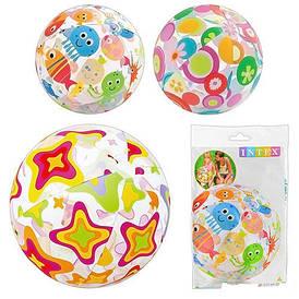 М'яч Intex 59040 різнобарвний, діаметр 51 см