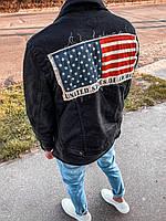 Мужской джинсовый пиджак (черный) - Турция (4241)
