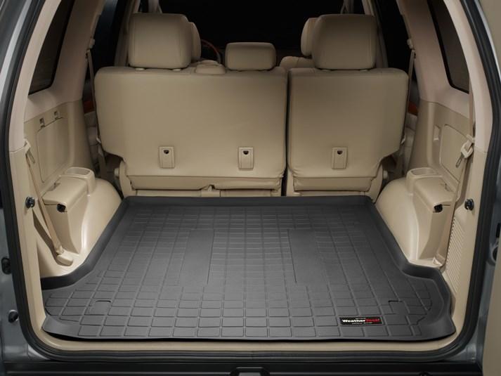 Ковры резиновые WeatherTech Toyota LC120 2003-2009 в багажник черный