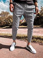 Мужские спортивные штаны (бело-черные) - Турция (u4)