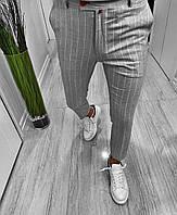 Мужские легкие брюки (серые) - Турция (D39)