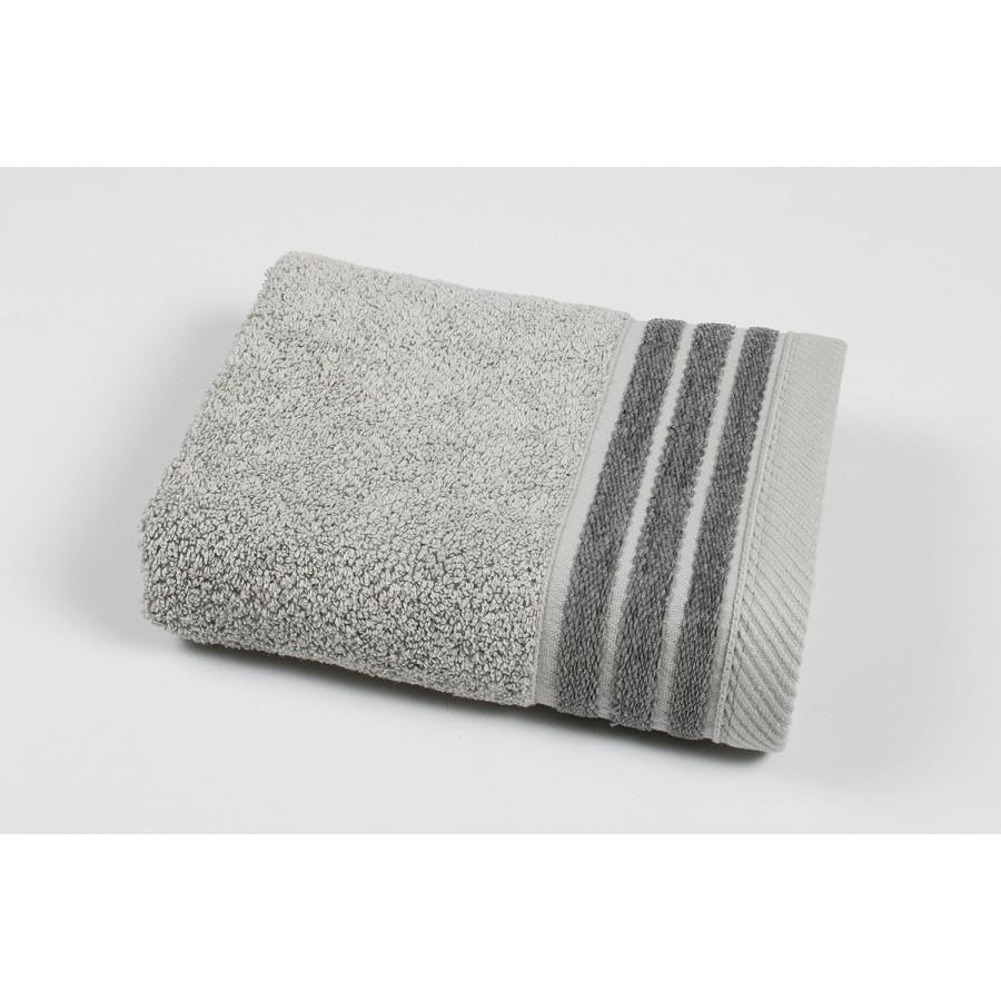 Полотенце махровое Pupila - Elson gri серый 50*90