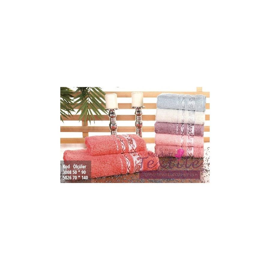 Полотенце махровое Pupilla Vip Bamboo - Lady/Fresh коралловый 70*140