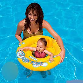 Дитячий коло-плотик Intex 59574 зі спинкою, діаметр 67 см від 1 до 2 років