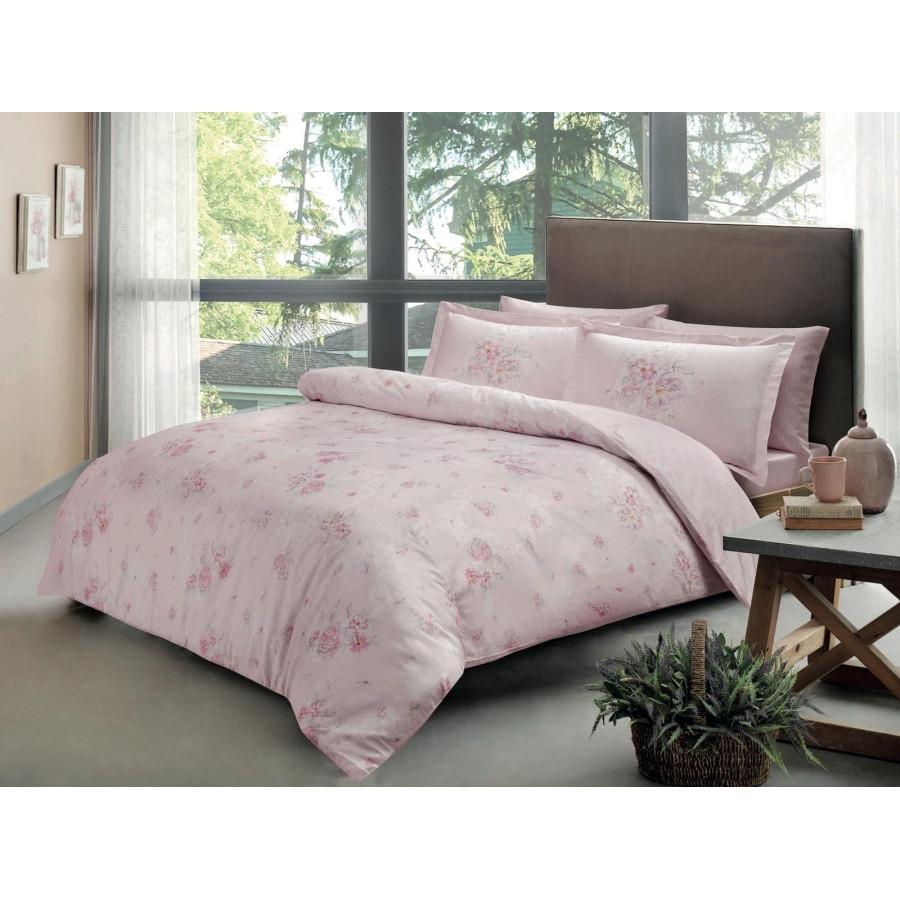 Постельное белье Tac сатин Digital - Madeline pembe v01 розовый евро