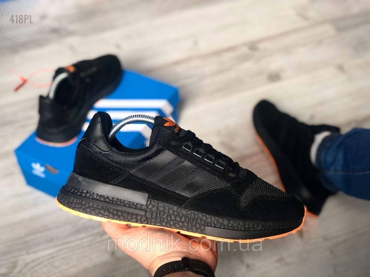 Мужские кроссовки Adidas Black/Orange 418PL