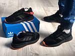 Мужские кроссовки Adidas Black/Orange 418PL, фото 2