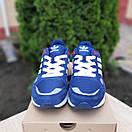Чоловічі кросівки в стилі Adidas ZX 500 сині, фото 5