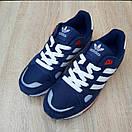 Чоловічі кросівки в стилі Adidas ZX 500 сині, фото 8