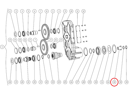 Муфта Capello 04.4514.00 редуктора внутрішня, фото 2