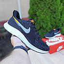 Мужские кроссовки в стиле Nike Zoom AIR черные с оранжевым, фото 3