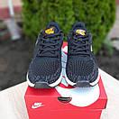 Мужские кроссовки в стиле Nike Zoom AIR черные с оранжевым, фото 4