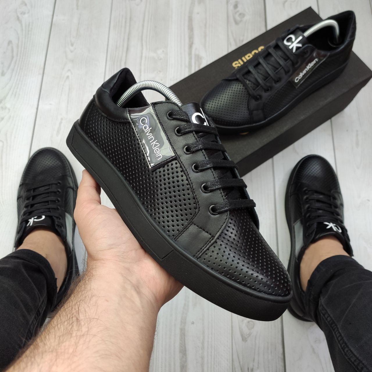 Мужские кеды Calvin Klein OS072 черные