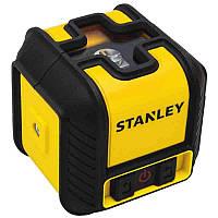 """Уровень лазерный кросслайнер Stanley """"Cubix"""", красный, дальность 12м, ошибка +/- 0,6 мм/10м"""