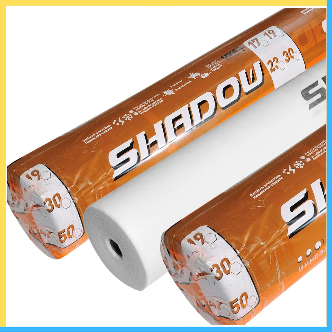 """Агроволокно  белое 19 г/м² , 1,6 х 100 """"Shadow"""" (Чехия) 4% мульчирующие"""