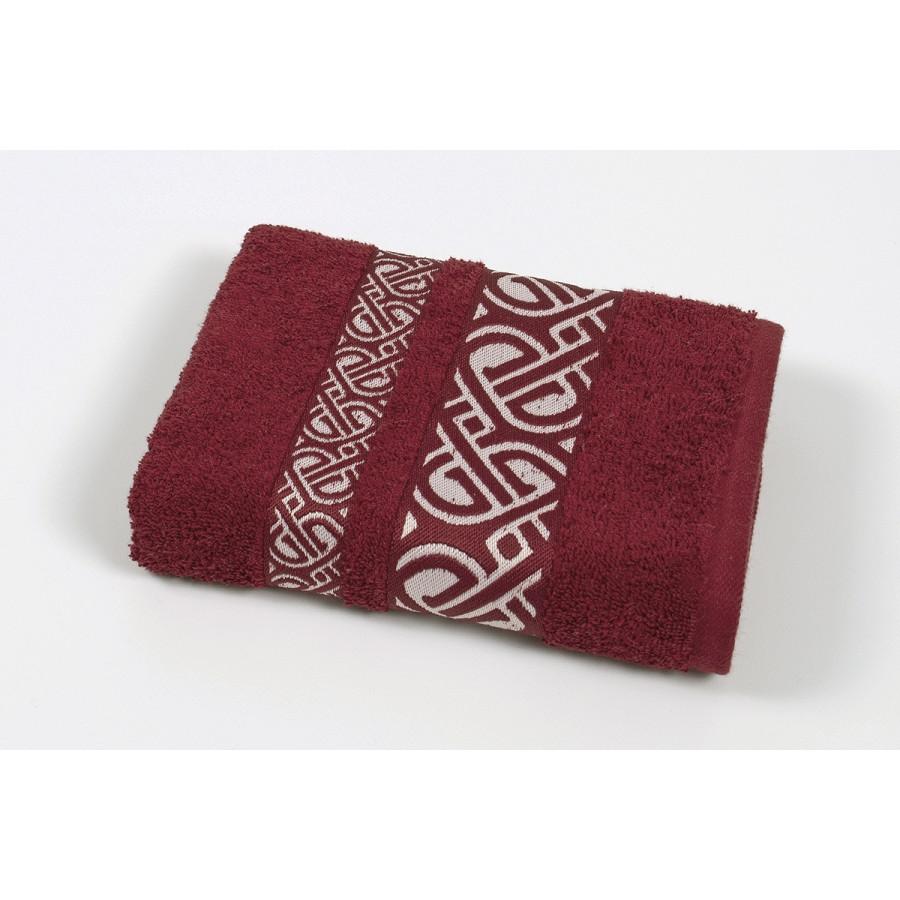 Полотенце махровое Cestepe - Vakko cotton бордо 50*90