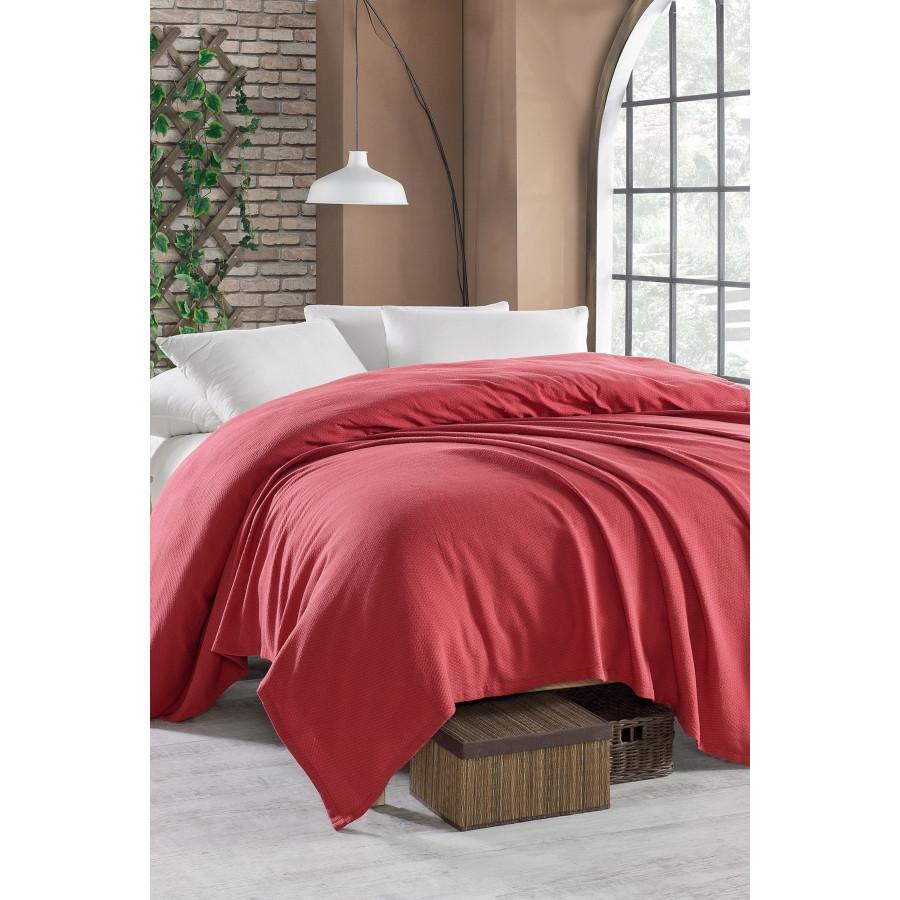 Покрывало пике Enlora Home - Casuel k.kirmizi красный вафельное 200*235
