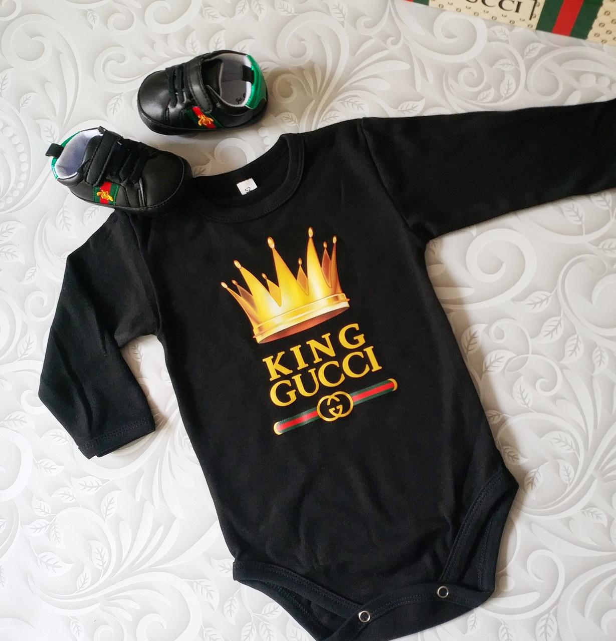 Черный боди для новорожденных Gucci