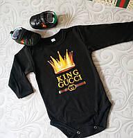 Черный боди для новорожденных Gucci, фото 1