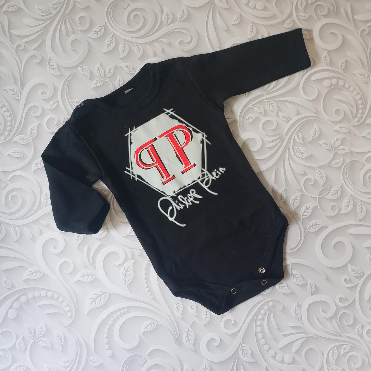 Черный боди для новорожденных Philipp Plein