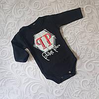 Черный боди для новорожденных Philipp Plein, фото 1
