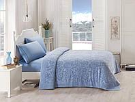 Махровое покрывало/простынь TAC Lyon Blue 200×220 см