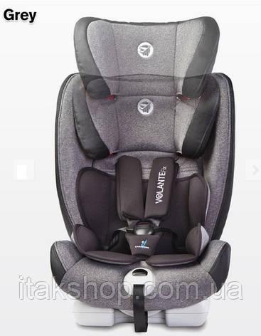 Детское каркасное автокресло Caretero Volante Fix Isofix Limited 9-36 кг (Серый), фото 2