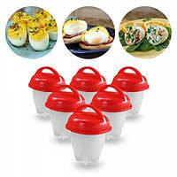 Силиконовые формочки для варки яиц без скорлупы Egg Boiler 6 штук (00-0102)