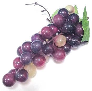 Виноград искусственный 17 см, красный