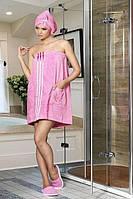 Набор для сауны и бани розовый