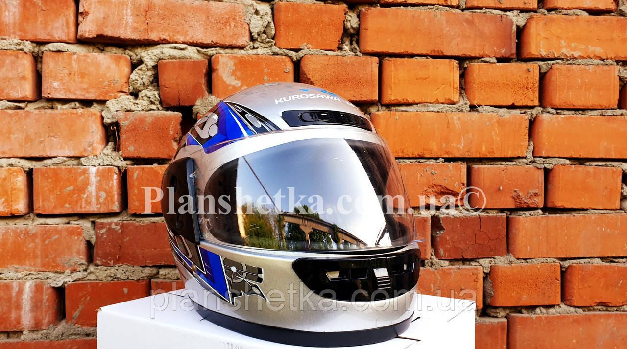 Шлем для мотоцикла Hel-Met 101 серый с синим
