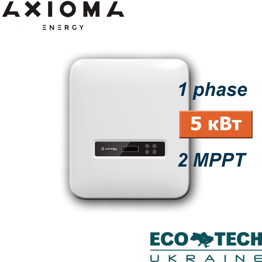 Сетевой инвертор AXIOMA AXGRID 5/6 (1 фаза, 5 кВт, 2 МРРТ)
