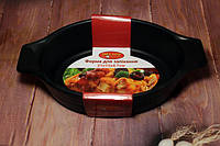 Форма для выпечки керамическая овальная (21 см х 13 см х 4.7 см)., фото 1