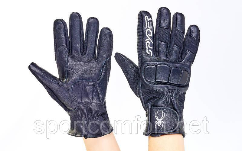 Мотоперчатки кожаные SPIDER BC-351 размер L-XL черный