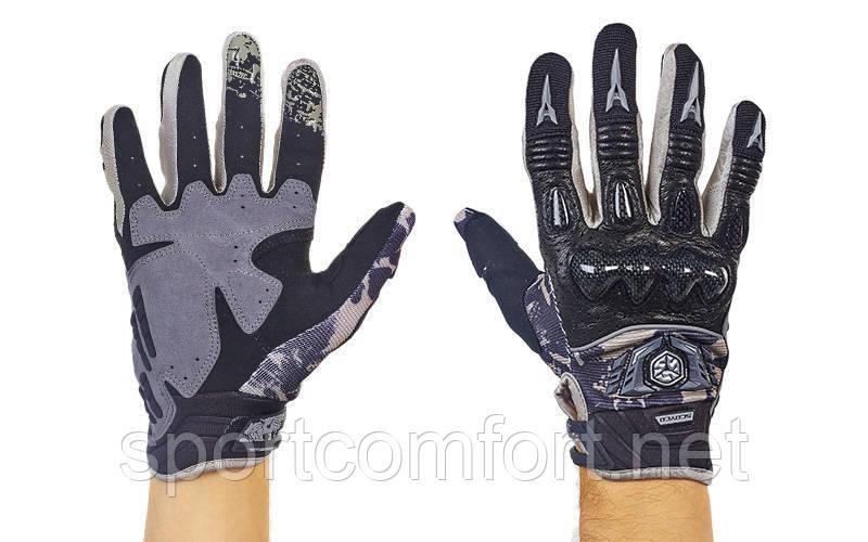Мотоперчатки SCOYCO MX49-BK размер M-XL (карбон) черный